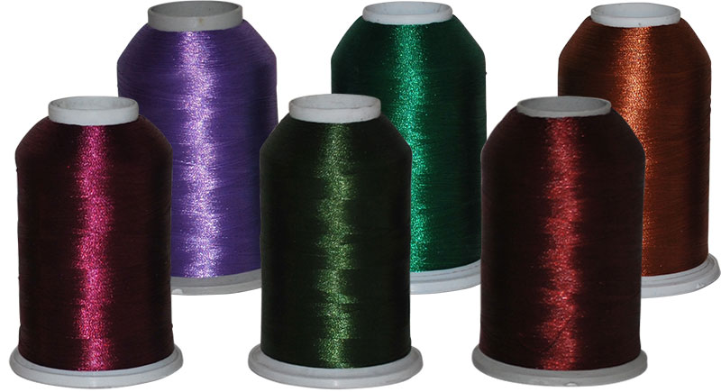 Polyester Yarn Rainbow German Embroidery Threads Artificial